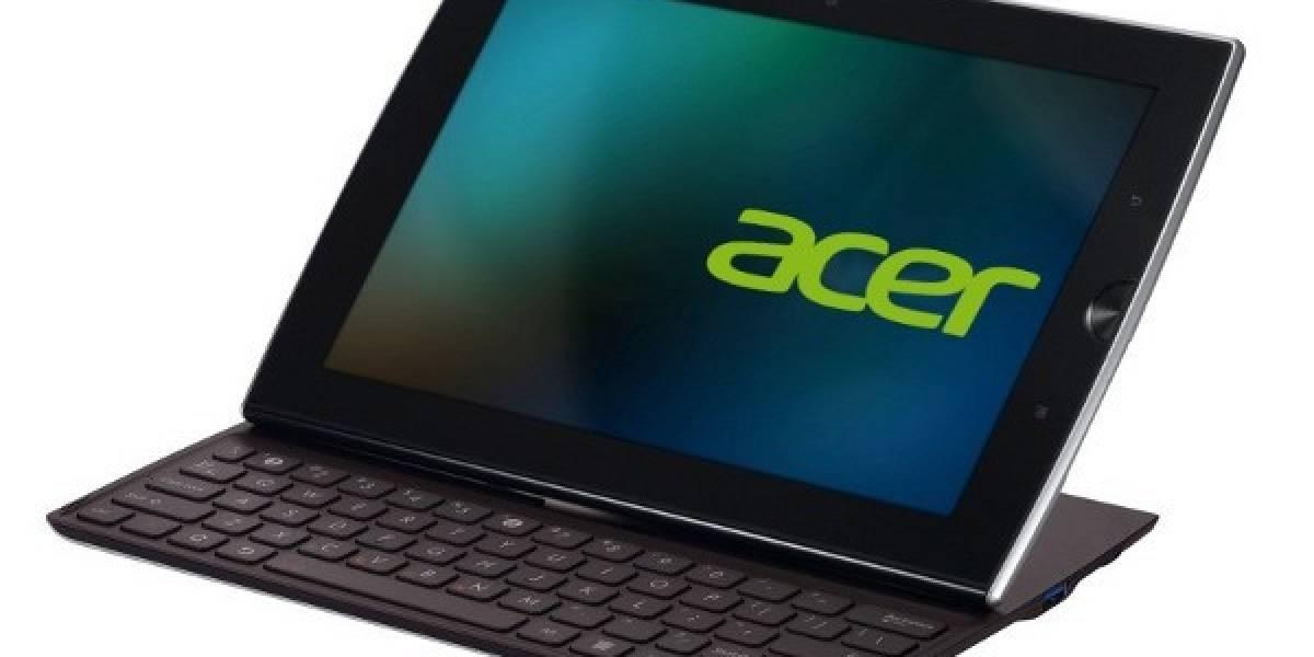 Acer estrenará tablet con teclado físico oculto y deslizable