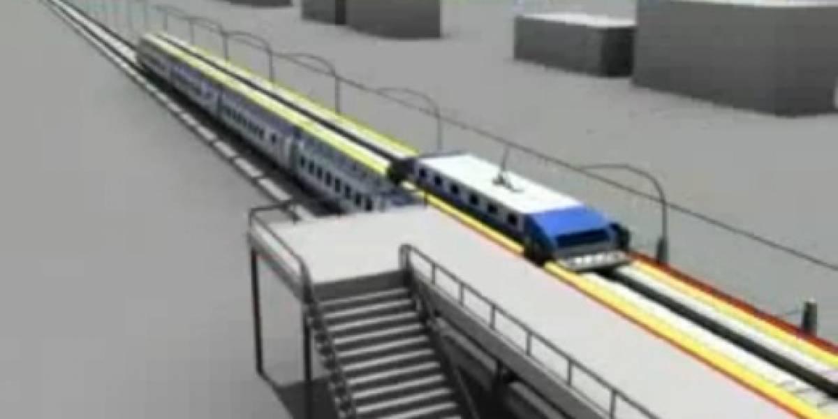 Concepto: nuevo tren chino recogerá pasajeros sin detenerse