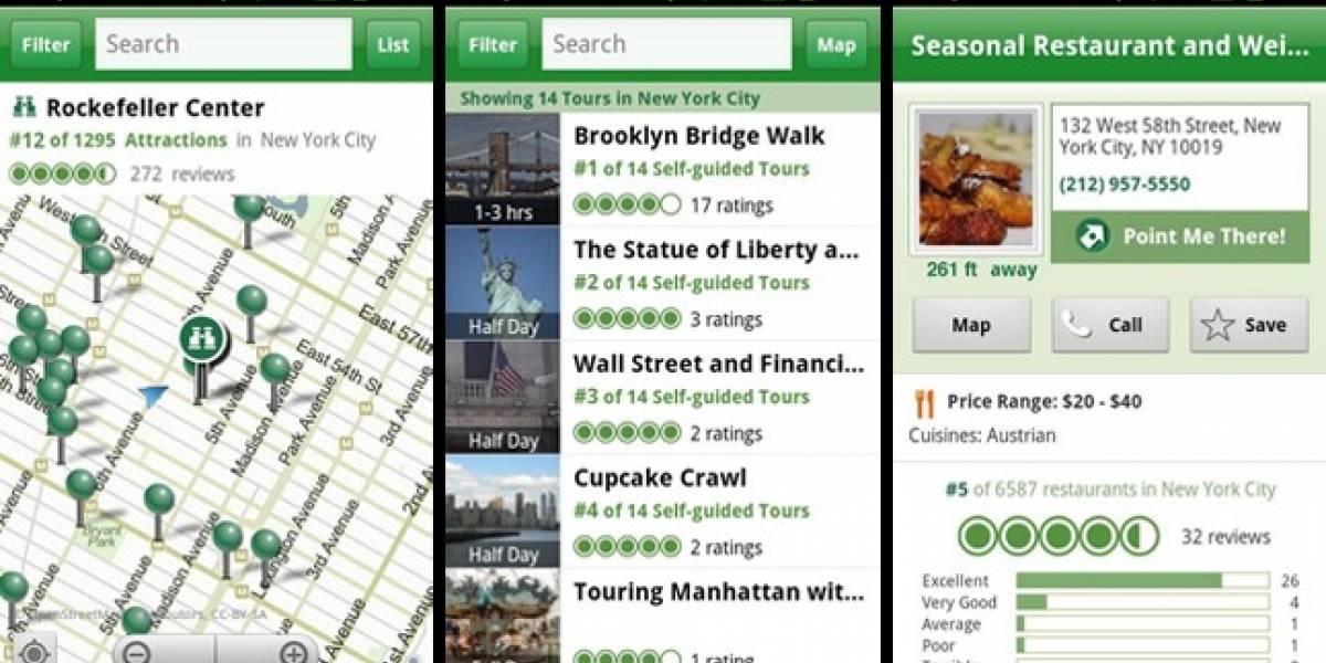 TripAdvisor para Android recibe guías de veinte ciudades