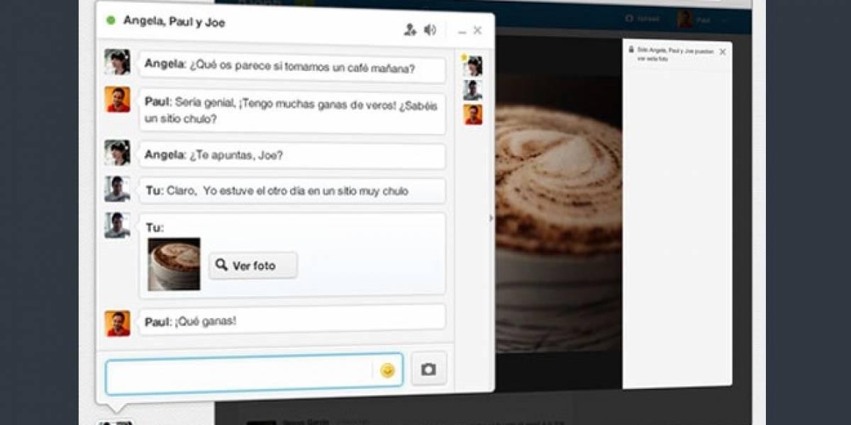 Chat grupal de Tuenti permite compartir fotos