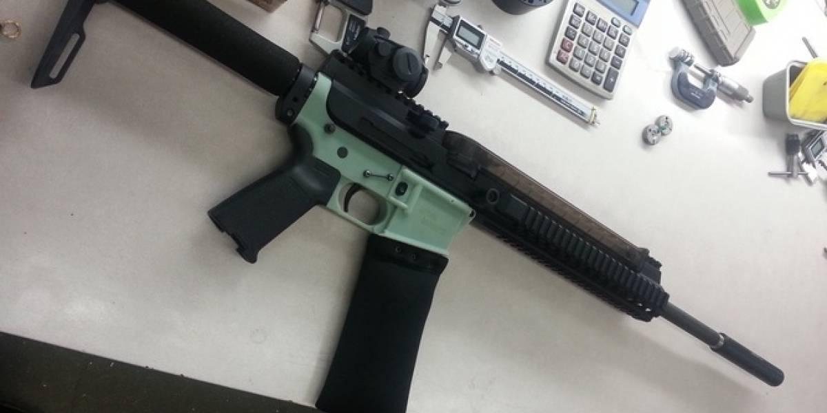 Un rifle impreso en 3D disparó seis balas verdaderas antes de romperse
