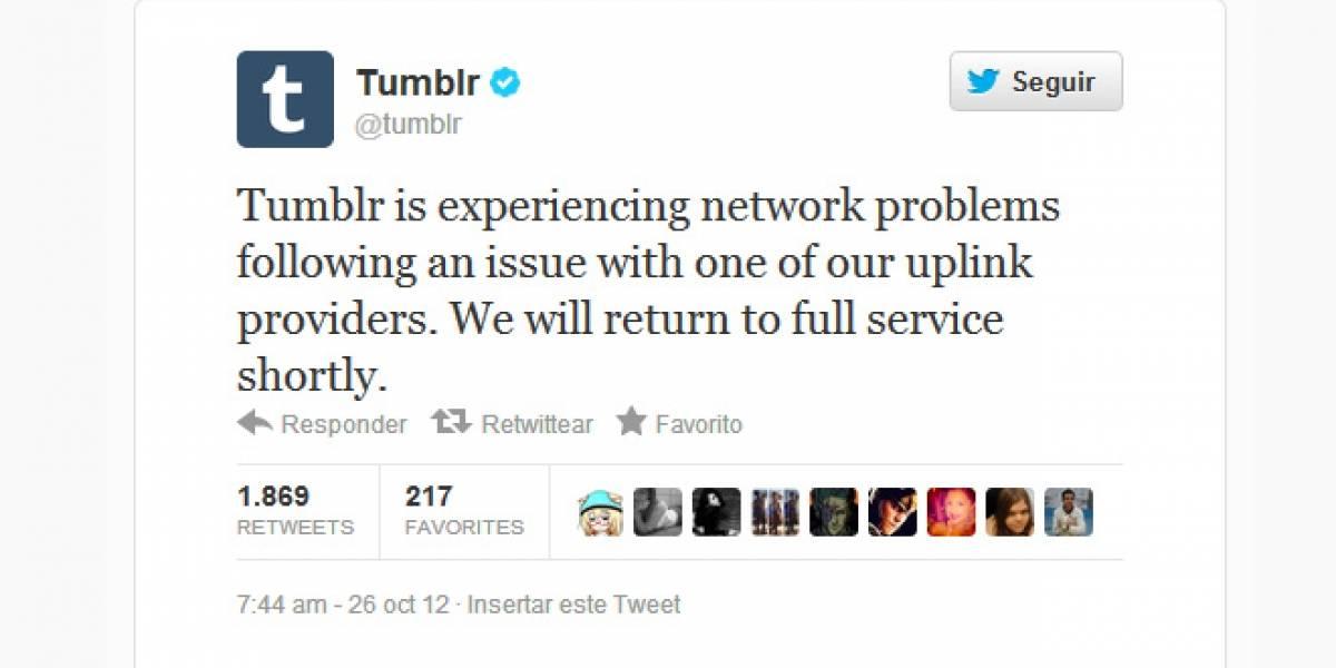 Tumblr se cae y deja millones de blogs fuera de servicio (Actualizado)