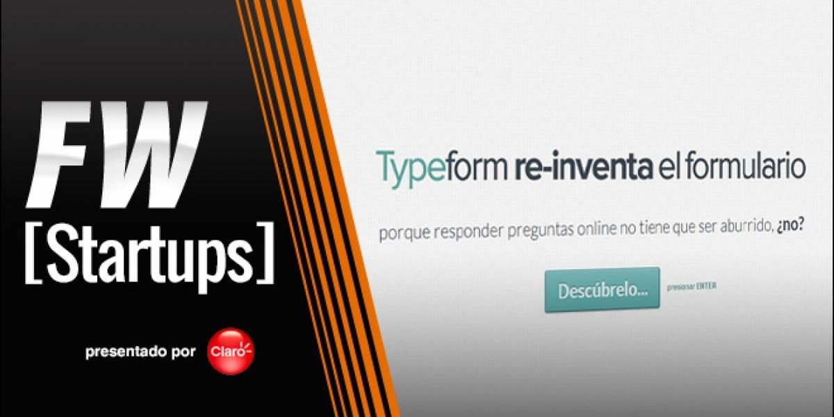 Typeform: Renovando las encuestas por Internet [FW Startups]