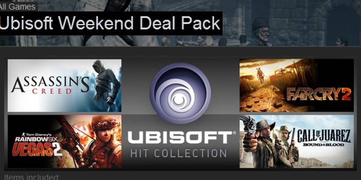 4 grandes de Ubisoft por 12.99 dólares