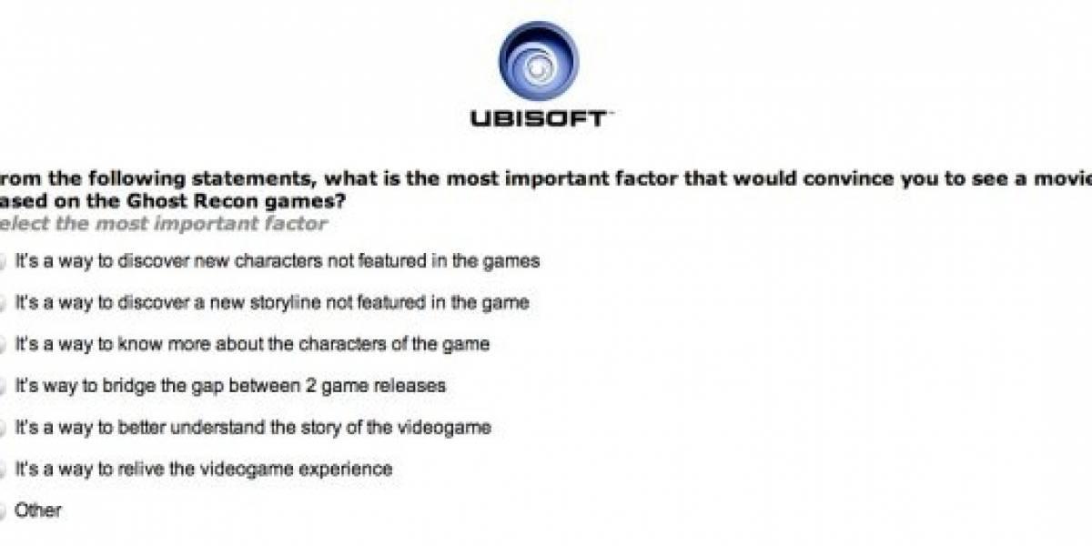 Ubisoft pregunta: ¿Quieres que Assassins Creed o Ghost Recon lleguen al cine?