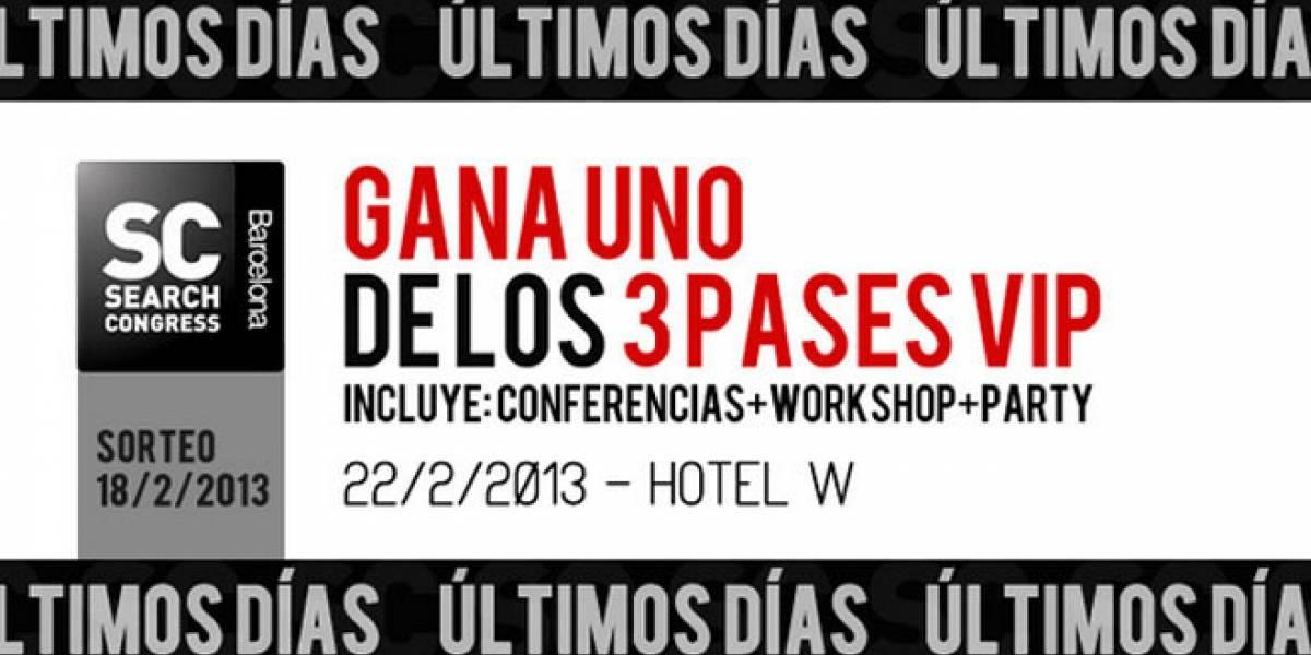 SearchCongress Barcelona 2013: ¡Últimos días para participar por una de las tres entradas VIP!