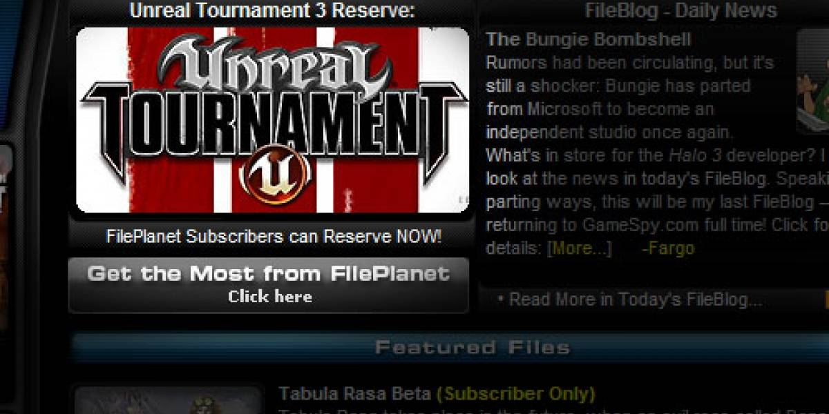 Unreal Tournament 3 Beta en FilePlanet y sé la envidia de la cuadra