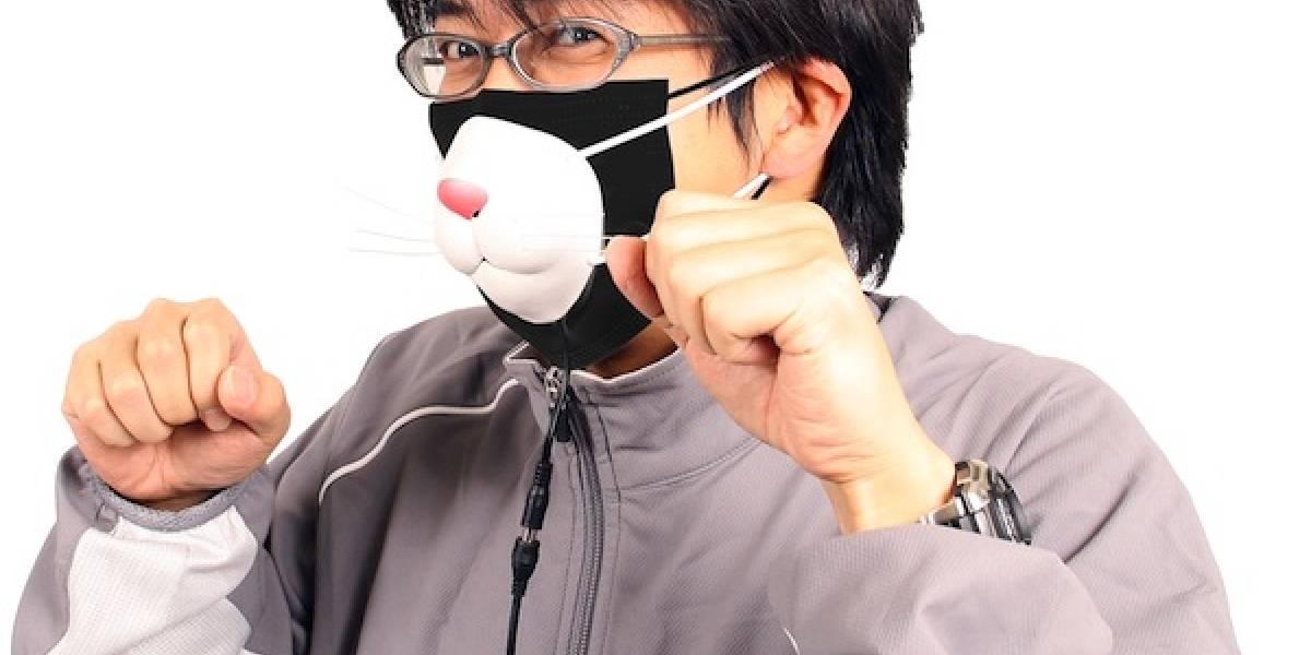Máscara de gato que renueva el aire