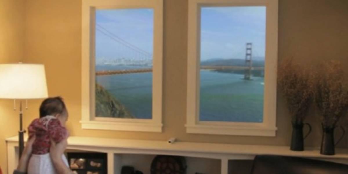 Las ventanas de las películas futuristas ya están aquí