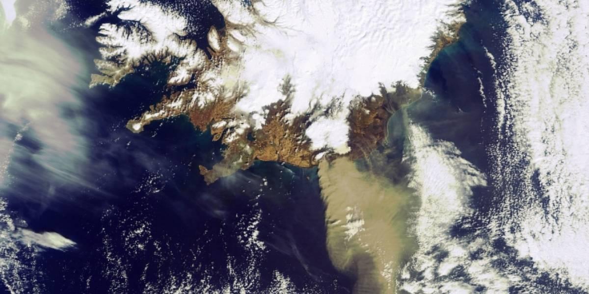 Imperdible: El volcán Eyjafjallajoekull fotografiado desde el espacio