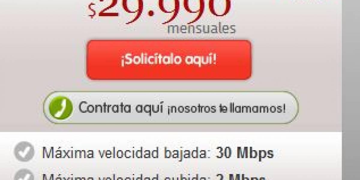 Chile: VTR lanza plan de internet de 30 Mbps