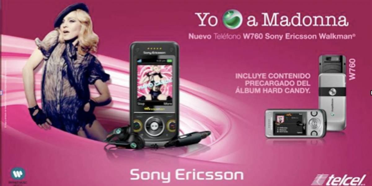 Sony Ericsson W760 con Hard Candy incluido