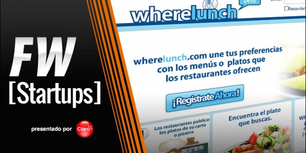 Wherelunch: Encuentra dónde está el menú más sabroso del día [FW Startups]