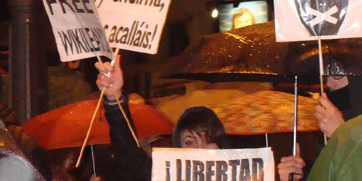 Protestas contra la Ley Sinde y a favor de Wikileaks se realizaron en España
