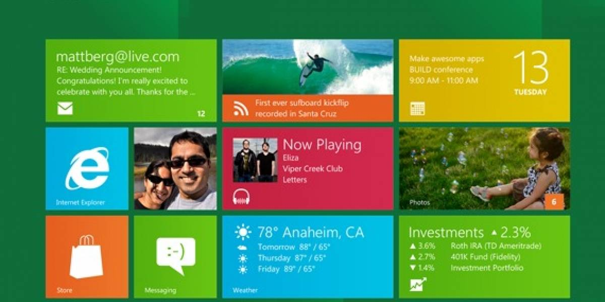 Algunas interacciones con Windows 8 (Video)