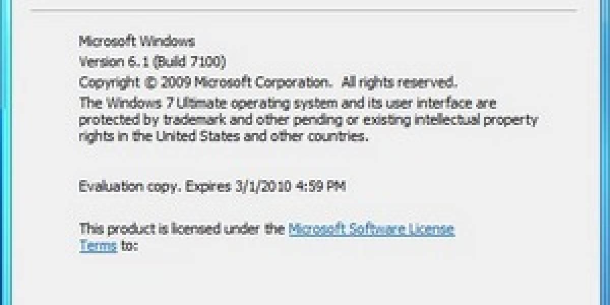 Sorpresa en el Windows 7 RC Build 7100