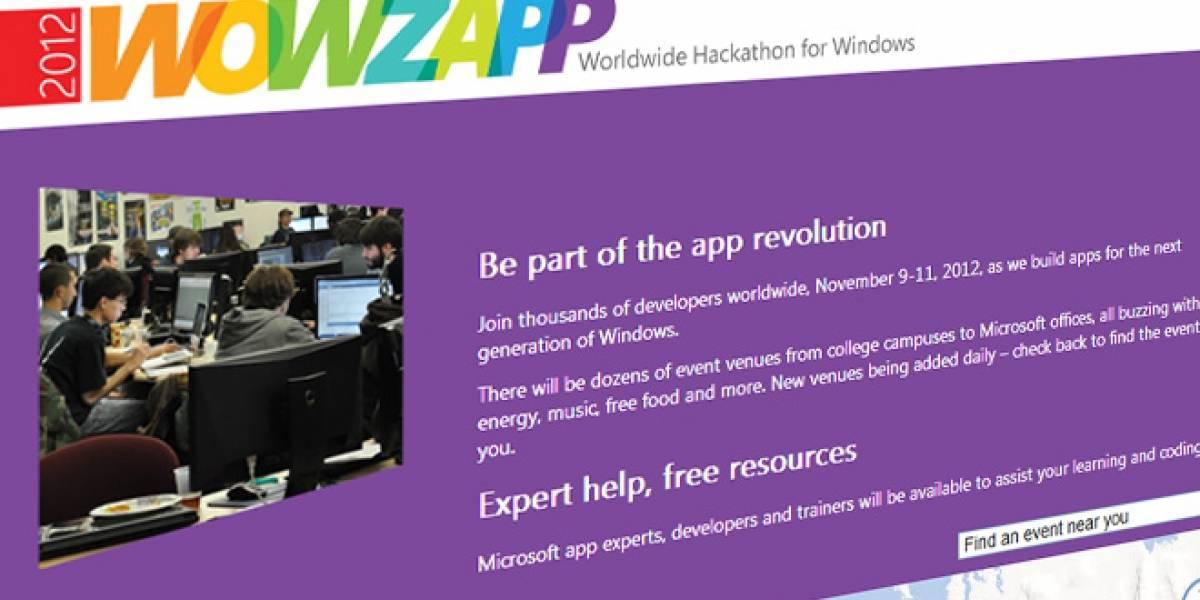 Wowzapp 2012: Hackatón de Windows se realizará en México y Chile el 10 y 11 de noviembre
