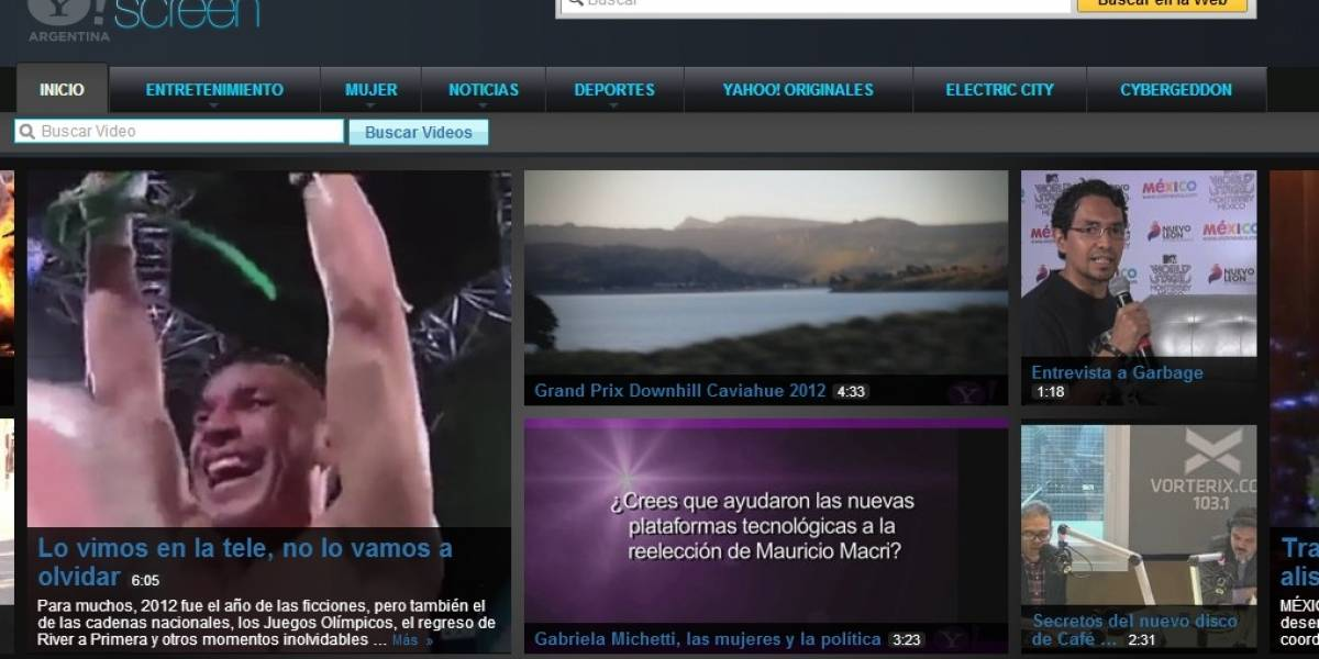 Yahoo! lanzó en Argentina un canal de videos de producción propia