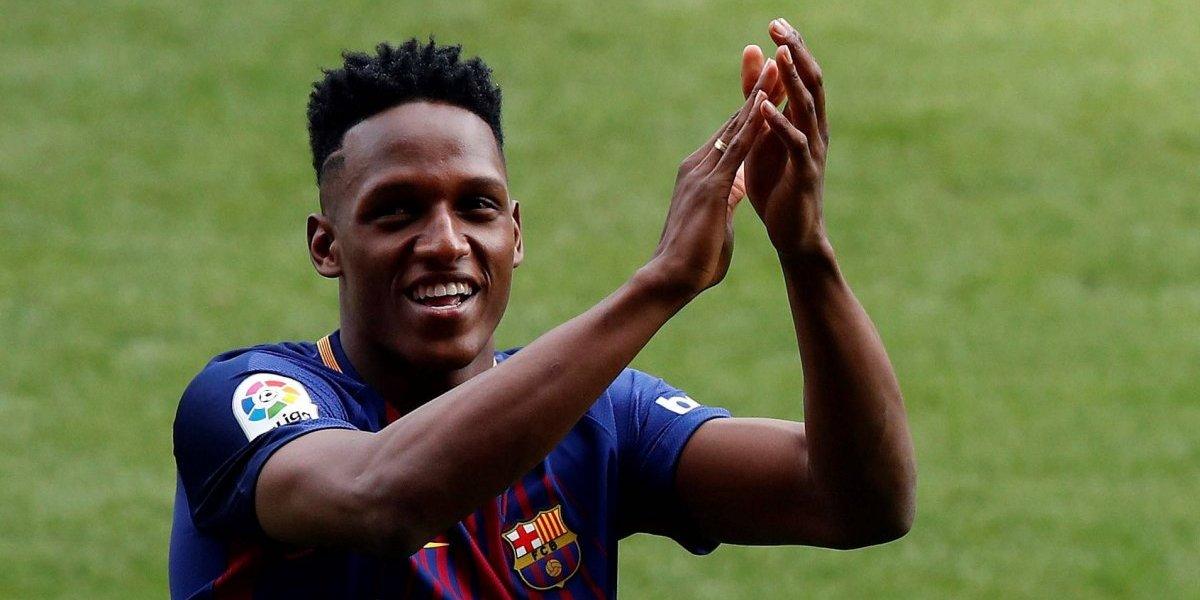 ¡Esta vez sí, Yerry! El debut del colombiano Mina será en Camp Nou, ante Alavés