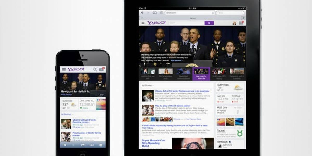 Yahoo intenta volver a ser importante con nueva página de inicio
