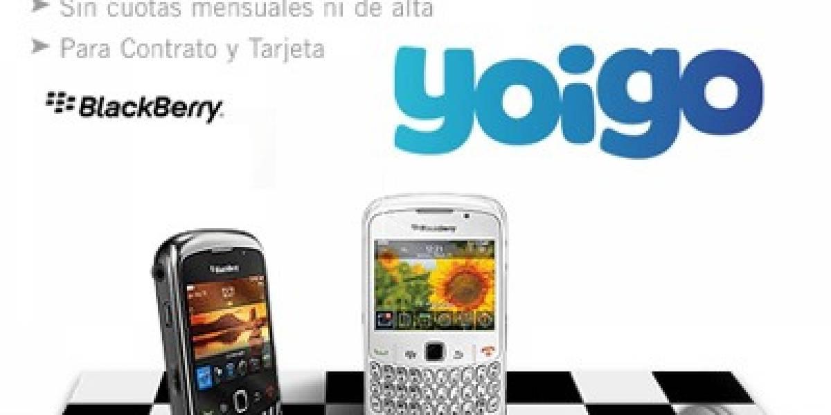 Yoigo ya ofrece Blackberry en España