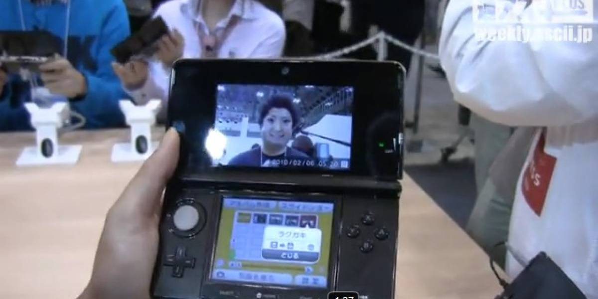 Video de realidad aumentada y Miis del 3DS