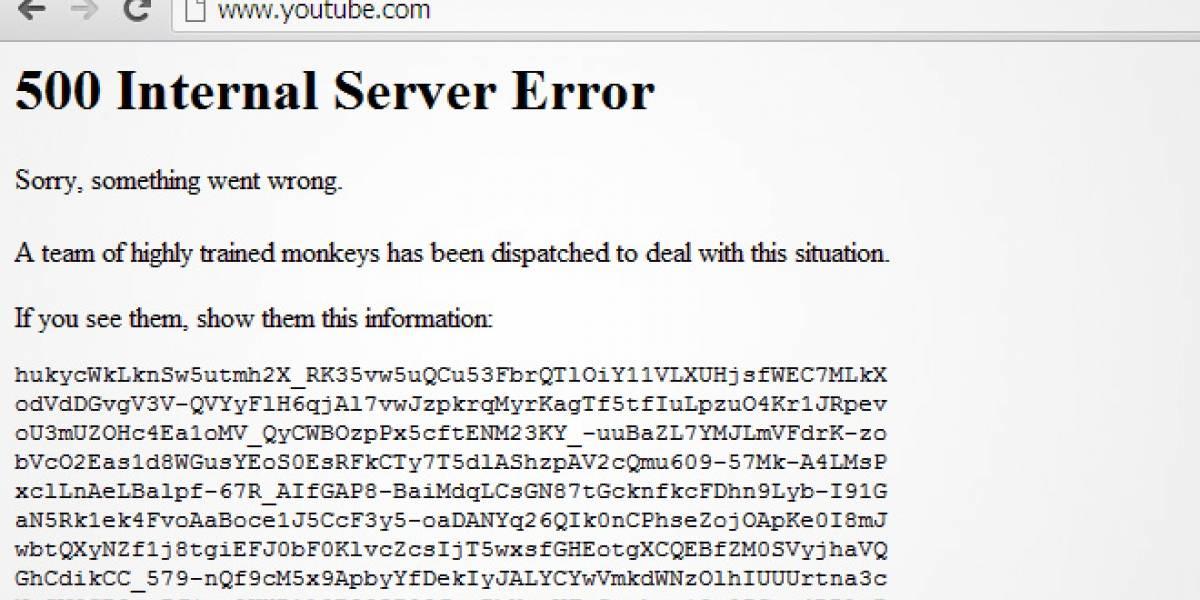 YouTube está fuera de servicio temporalmente (actualizado)