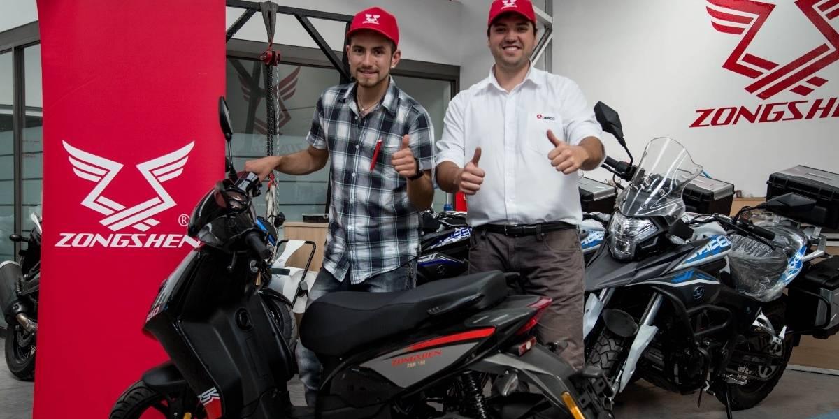 Posteó en Facebook y se ganó una scooter Zongshen ZSR 150