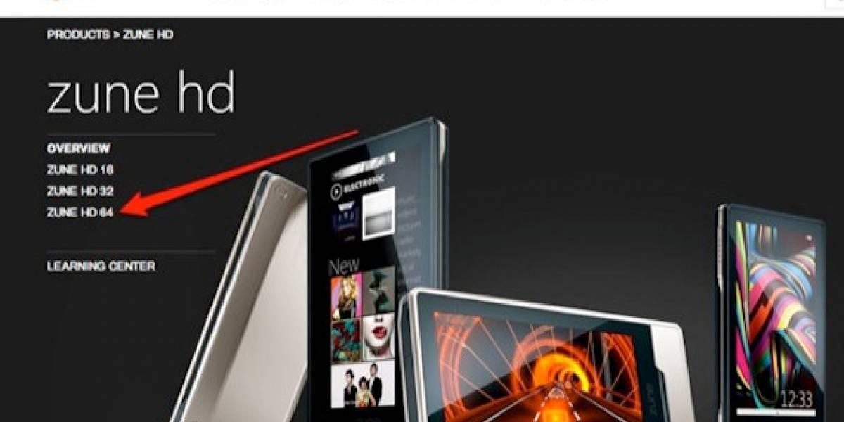 Futurología: Zune HD de 64GB podría llegar pronto a las tiendas