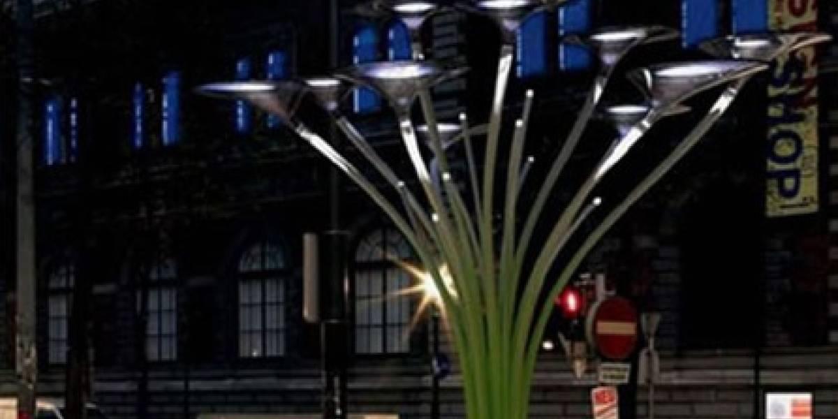 Árbol solar para iluminar las calles