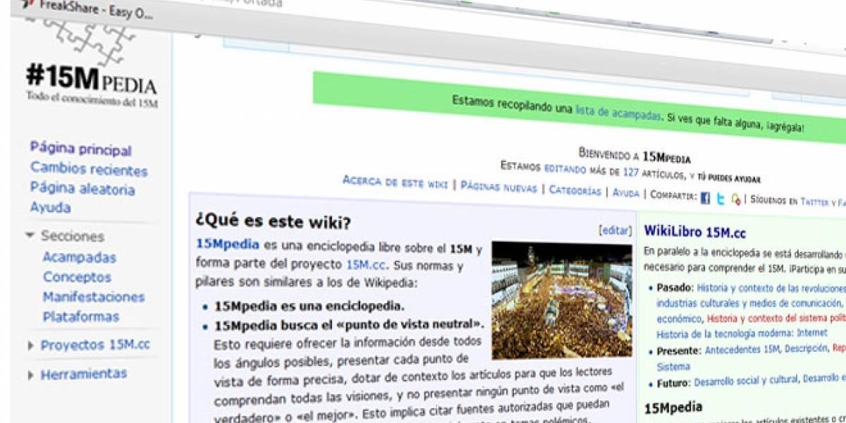 Nace la #15MPedia: La Wikipedia para documentar el 15-M en España