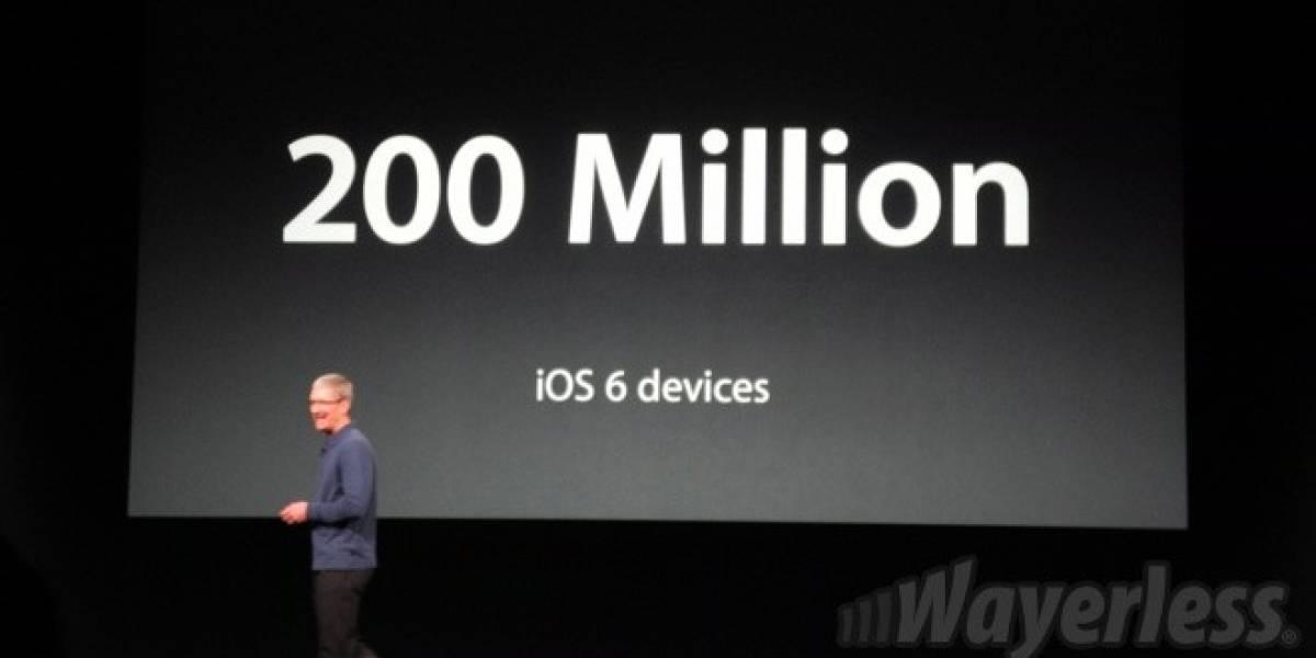200 millones de equipos ya se actualizaron a iOS 6