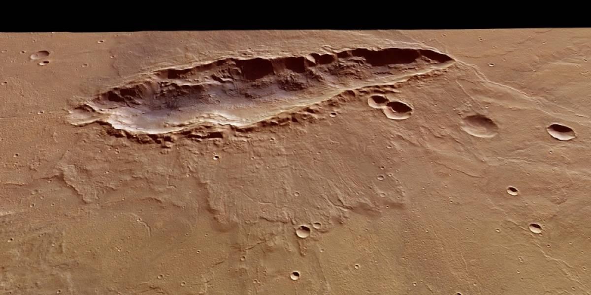 Sonda europea desvela una nueva cicatriz de Marte