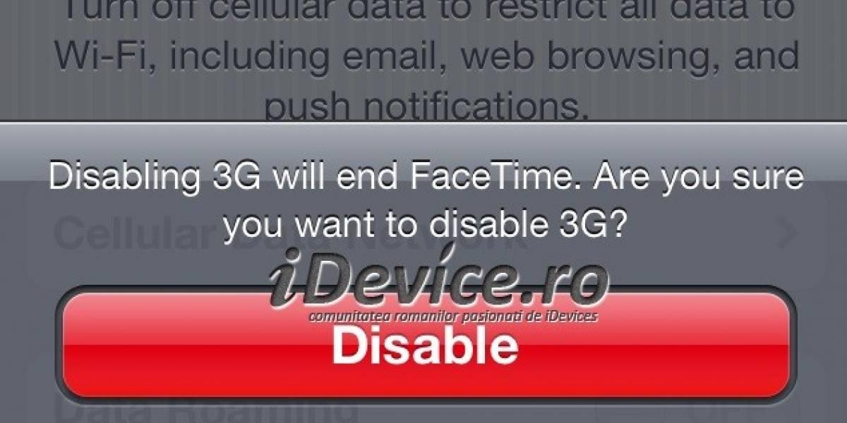 Facetime podría estar próximo a funcionar sobre 3G de forma oficial
