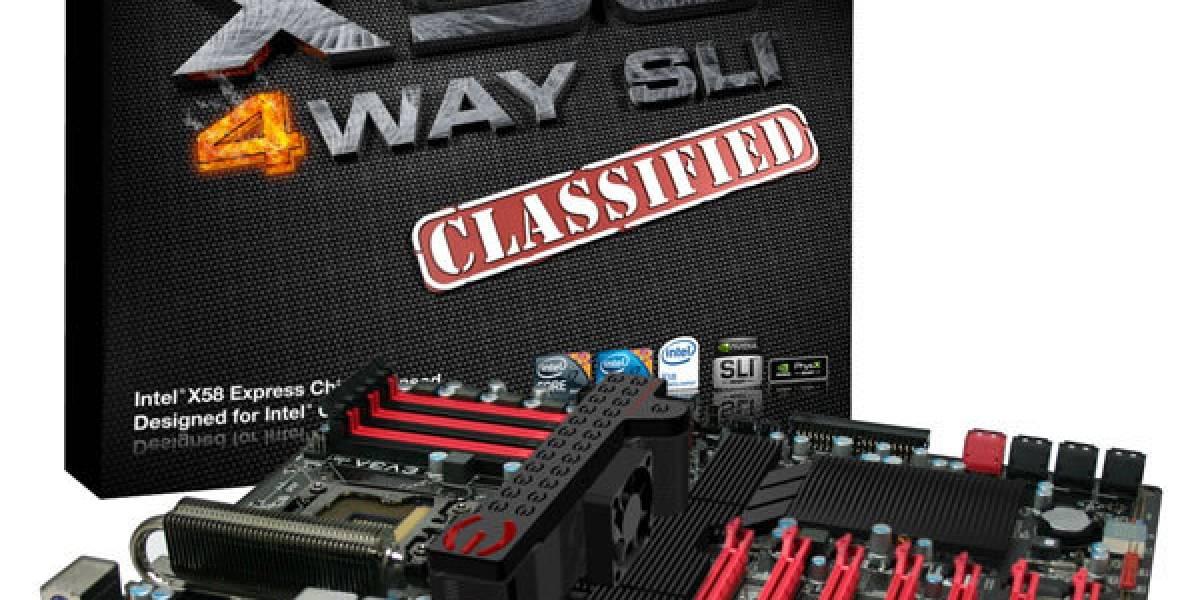 EVGA muestra placa madre X58 Classified 4-Way SLI