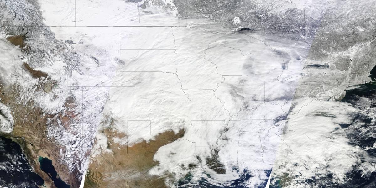 Tormenta de frío que afecta a Estados Unidos amenaza a la nube