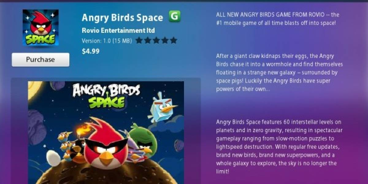 Angry Birds Space hace su arribo oficial a BlackBerry PlayBook