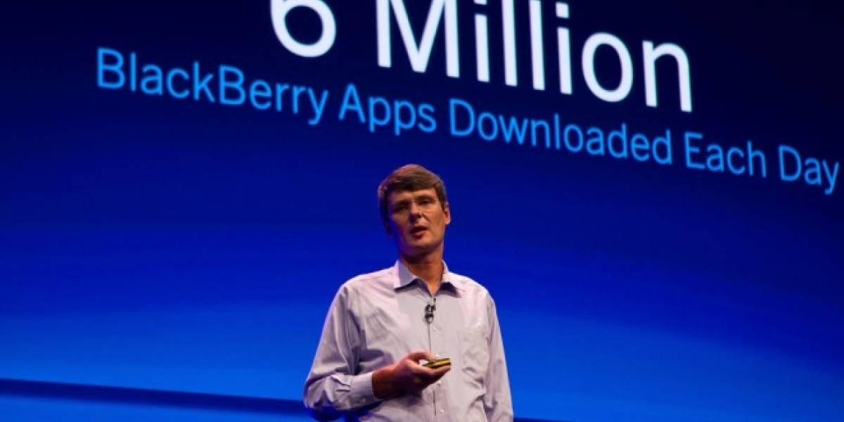 El CEO de RIM afirma que el tamaño del ecosistema de aplicaciones no lo es todo