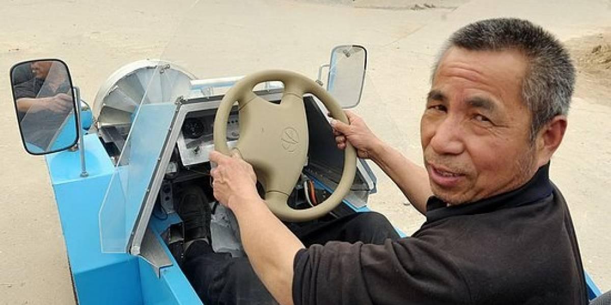 "Granjero chino crea un automóvil ""volador"""
