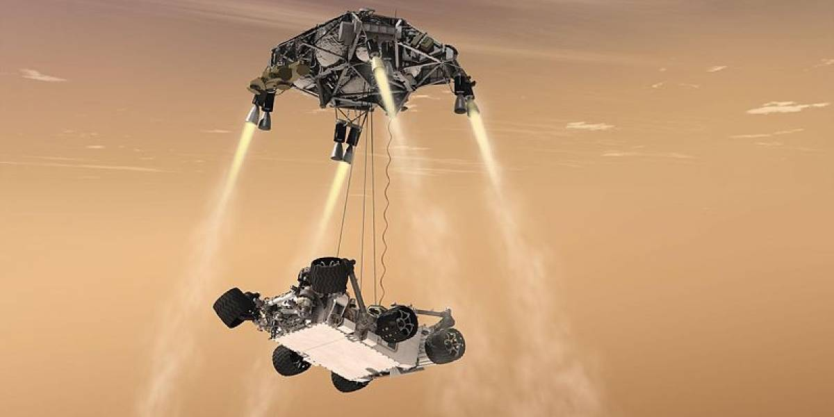 NASA lanza video del amartizaje de Curiosity