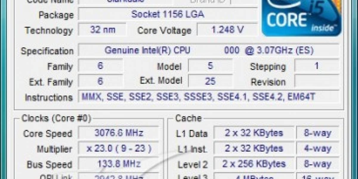 Prueban CPU Clarkdale de 3.06GHz