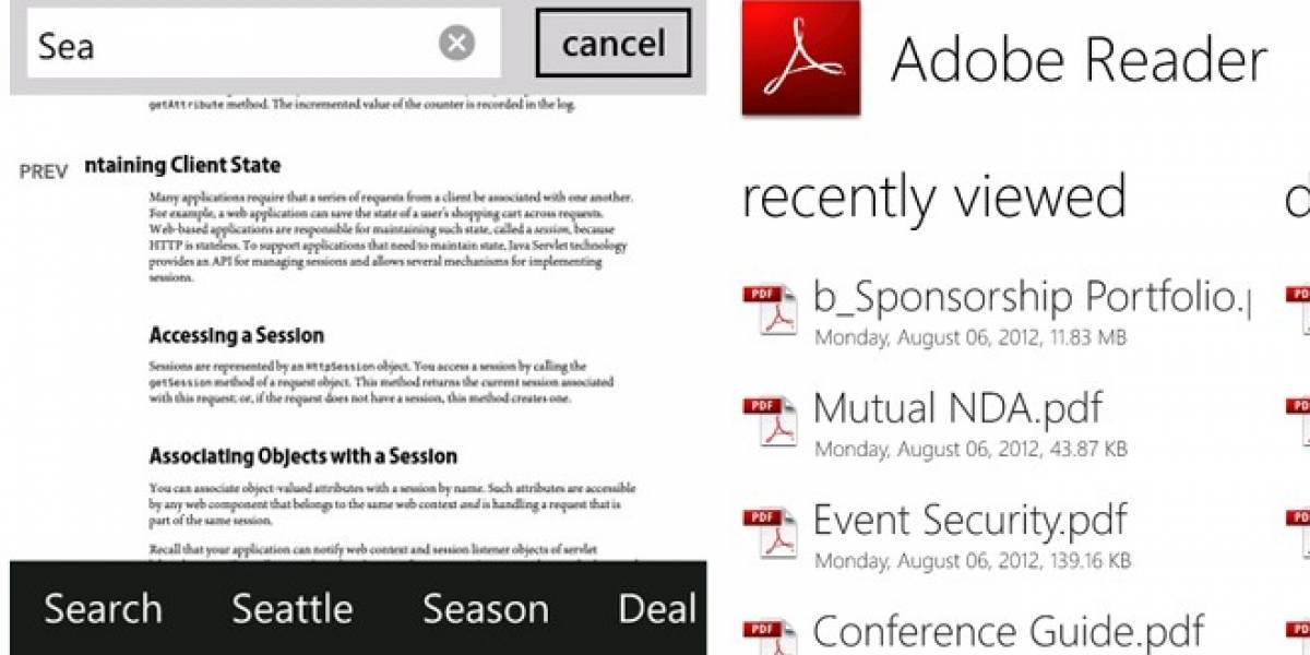 Adobe actualiza su aplicación Reader 10.1 para Windows Phone 7