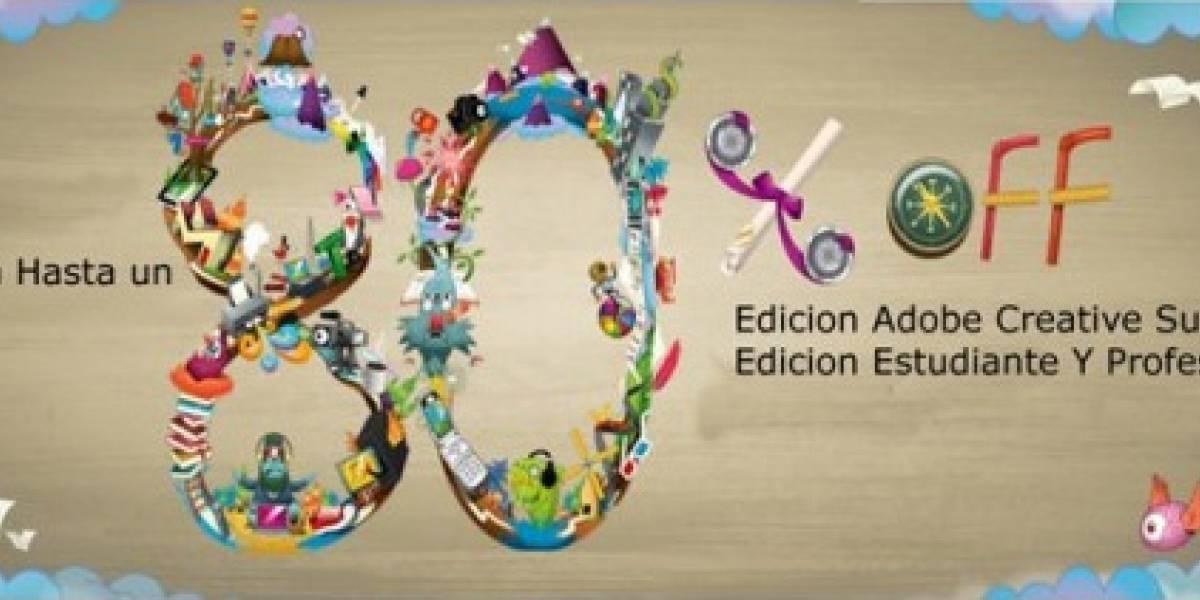 Chile: Adobe ofrece su Creative Suite 5.5 con 80% de descuento para estudiantes