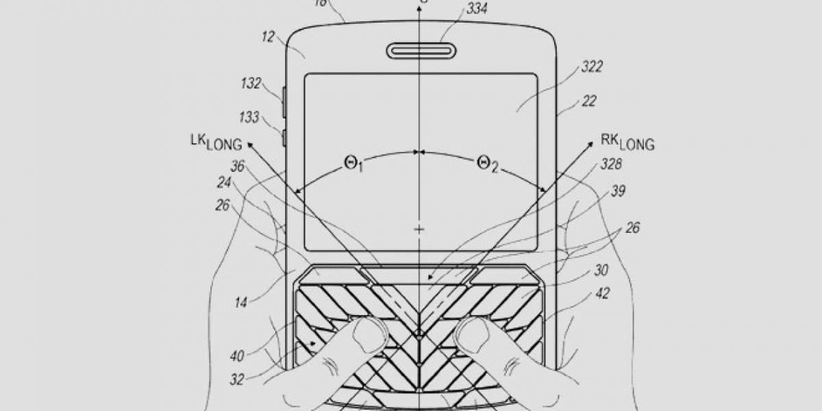 RIM patenta licencia para creación de nuevo teclado para dedos grandes