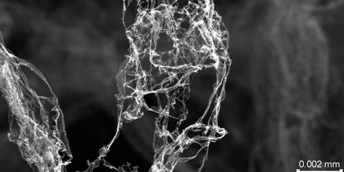 Inventan el material más ligero del mundo: está hecho en un 99,99% de aire