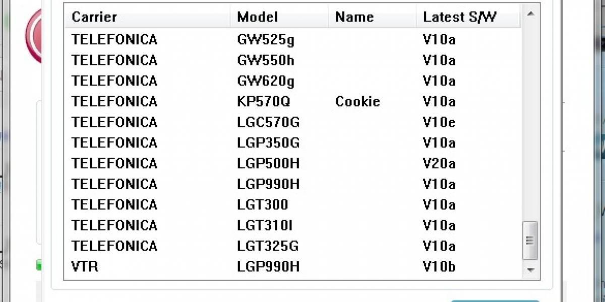 ¡Sorpresa! Software de actualización de LG acusa la llegada del Optimus 2X a VTR Móvil
