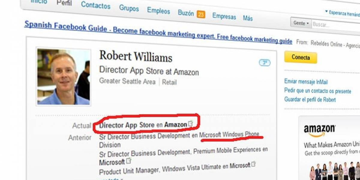Amazon ficha a otro ex directivo de Windows Phone... ¿Para trabajar en su smartphone?