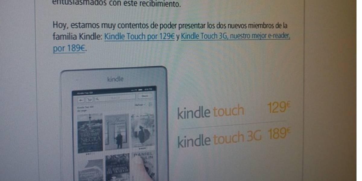 Kindle Touch llega a Europa el 27 de abril