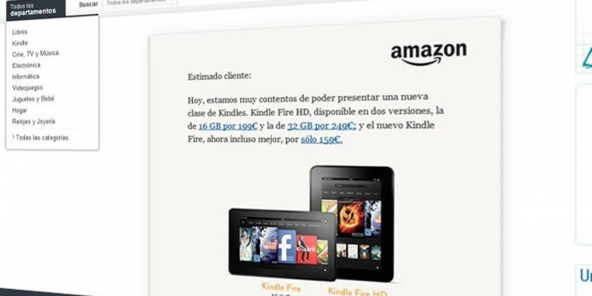 Kindle Fire y Kindle Fire HD ya se pueden reservar en España