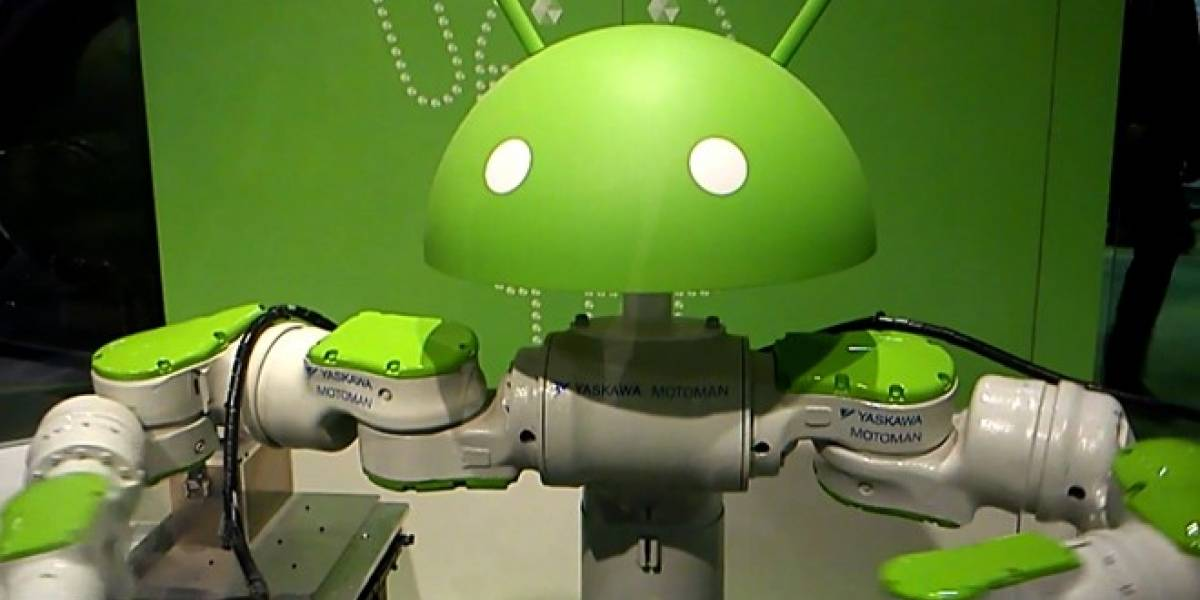 Un Android robot decorando carcasas de Galaxy Nexus